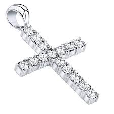 most popular mens sterling silver 925 original design iced out large cross pendant with cubic