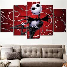 nightmare before christmas 5 piece 3d wall art canvas on modern 3d wall art with nightmare before christmas 5 piece 3d wall art canvas catchy trend