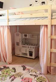 Loft bed with playhouse underneath for girls' shared room....Finally an  easy way to do this! | Home sweet home! | Pinterest | Play spaces, Small  rooms and ...