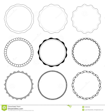 Set 9 Circle Design Frames Stock Vector Image