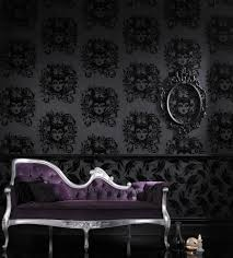 Skull Wallpaper For Bedroom Decor Dark And Decadent Wallpaper Tastefully Gothic