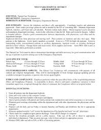 Patient Care Resume Examples Dazzling Patient Care Technician Resume Ravishing Sample Free 2