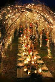 Magic Boho wedding reception with Twinkle Lights