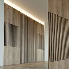 3d model wooden wall panel 33 vr ar