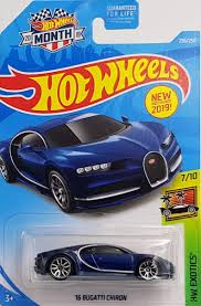 Today i'm reviewing a bugatti chiron and i'm showing you all the quirks and features of the 2018 bugatti chiron. Amazon Com Hot Wheels 2019 Hw Exotics 16 Bugatti Chiron Blue 236 250 Toys Games