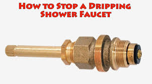 how to stop a dripping shower faucet repair leaky bathtub water