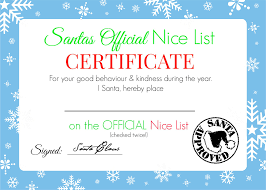 christmas certificates templates christmas nice list certificate free printable super busy mum