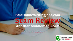paid online writing jobs review another middleman scam