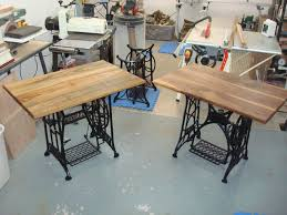 *SOLD* Old Treadle Sewing Machine Computer Desks