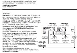 instruction sheets electrical wiring devices > instruction acirc toggle 1453 2e