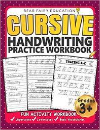 Handwritting Practice Cursive Handwriting Practice Workbook For 3rd 4th 5th