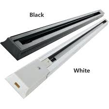 led track lighting fixtures white light rail connector universal rails aluminum black home depot canada