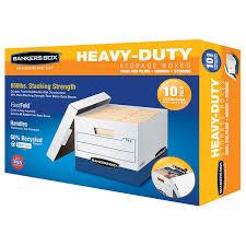 Office file boxes Desktop File Costco Wholesale Bankers Box Heavy Duty File Boxes Letterlegal 10pack