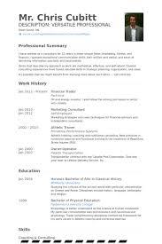 Financial Trader Resume samples