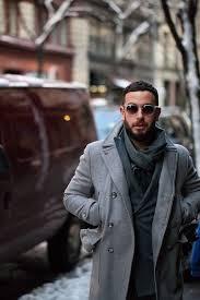 men s grey pea coat navy double ted blazer charcoal scarf men s fashion
