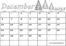 Free Calendar Template December 2015 Under Fontanacountryinn Com