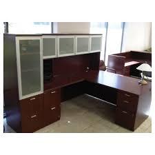 hon park avenue executive l shape desk with hutch