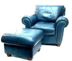 navy blue leather chair and ottoman outstanding spandex band fashionable