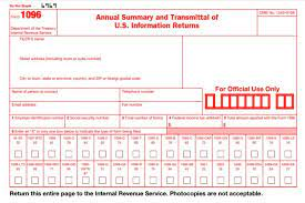 Fill out required blank fields with your data in a few clicks 1096 form. Form 1096 2021