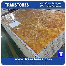 furniture manufacture gold spider faux onyx solid surface tea table countertop manmade stone hone furniture customzied
