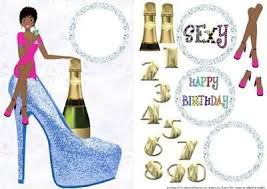 Birthday Girl Blue Shoe 4 by Audrey Rae: Amazon.co.uk: Kitchen & Home