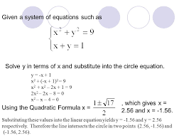 given a system of equations such as