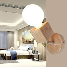 wall mounted lights for bedroom led modern wood wall lamp glass shade wall sconce bedroom corridor
