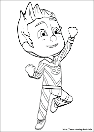 Coloring Masks Index Coloring Pages Free Pj Masks Coloring Pages To