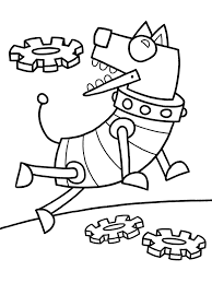 Small Picture Coloring Pages Robot For Toddlers Printable Kids Preschool Online