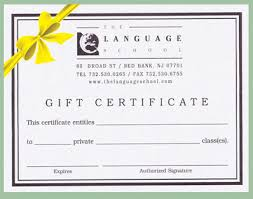 gift certificates customized certificates