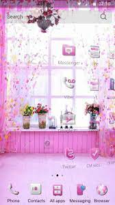 Pink cute girl wallpaper theme for ...
