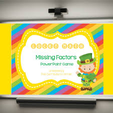 Missing Factors Lucky Powerpoint Game The Curriculum
