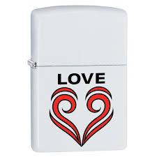 <b>Зажигалка ZIPPO 214 Love</b> Theme White Matte — купить в ...