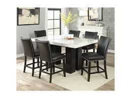 Steve Silver Camila 7 Piece Counter Height Dining Set With Marble