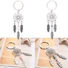 Dream <b>Dreamcatcher</b> Turquoise Feather Tassel <b>Keychain</b> Ring <b>Car</b> ...