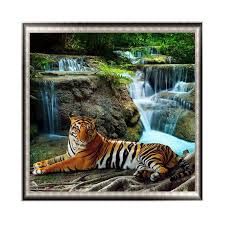 "Full <b>Round</b> Drill 5D DIY Diamond Painting""waterfall <b>tiger</b>""<b>3D</b> ..."