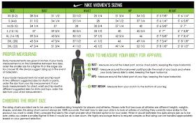 Nike Dri Fit Long Sleeve Size Chart Nike Dri Fit Shirt Size Chart Www Bedowntowndaytona Com