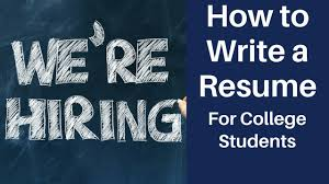 How To Write A Resume For College How To Write A Resume For College Students YouTube 96