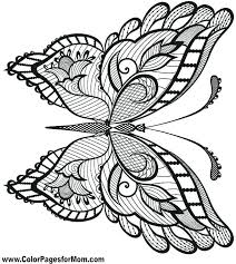 Color Page Butterfly Flowers And Butterflies Coloring Sheets Pages