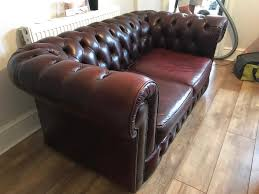 oxblood antique chesterfield sofa