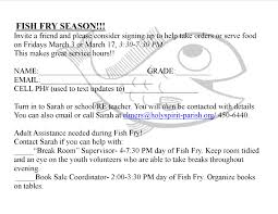 middle school holy spirit parish fish fry sign up