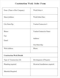 25 Work Order Template Form Download Free Pdf Word Excel