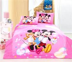 minnie mouse full size bed in a bag mouse bedding twin set pink mickey and full
