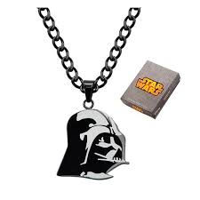star wars darth vader etched pendant