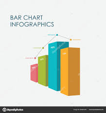 Full Sign Chart Bar Chart Infographics Elements Vector Flat Design Sign Icon