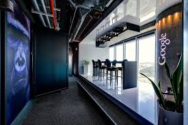 lounge area with chairs and table on celling in google office in tel aviv amazing office interiors