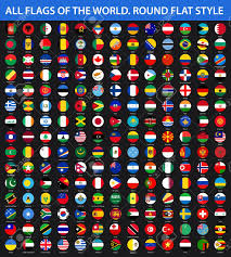 Alphabetical Order All Flags Of The World In Alphabetical Order Round Flat Style