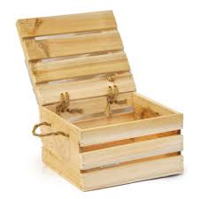 natural wooden crate storage box with lid small 7in zoom thumb thumb thumb thumb