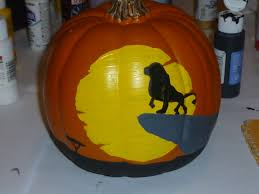 the lion king painted pumpkin
