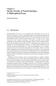 philosophical essay qualitative research essay qualitative  on the novelty of nanotechnology a philosophical essay springer inside